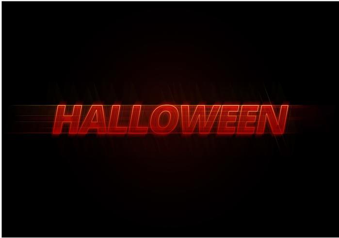 Spooky Halloween-teksteffect