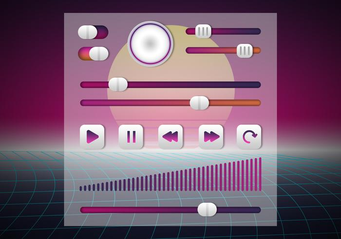 Retrowave UI Kit Button Element Collections