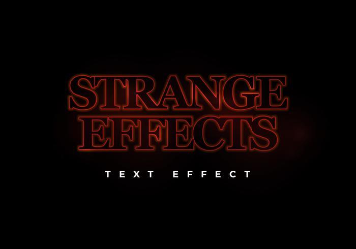 Seltsamer Sci-Fi-Texteffekt