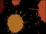 Orange Farbe Splatters