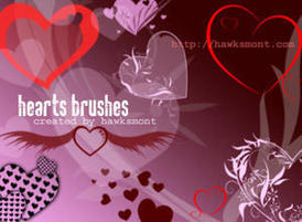 Hearts Photoshop Brushes