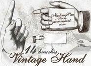 Vintage handen