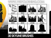 Pinceles de Photoshop Skyline