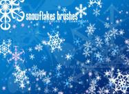 Pinceaux à flocons de neige