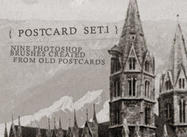 Old Postkarte Pinsel-Set I