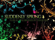 Suddenly Spring Photoshop Brushes