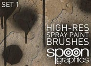 Hi-Res Pinceles para Photoshop Spraypaint-Set One