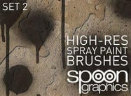 Brosses de photoshop spraypaint de haute résolution - set two