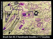 Escovas de Doodle feitas à mão