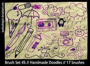 Handgemachte Doodle Pinsel