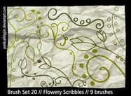 Flowery Scribble Photoshop Brushes