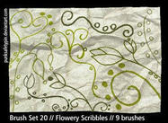 Pinceladas flowery scribble photoshop