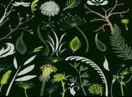 Blätter und Laubbürsten