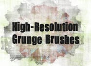 Detaljerad Grunge Brush Pack