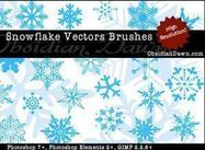 Snowflake Vector Penslar för Photoshop