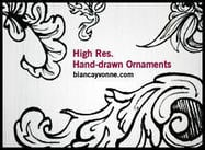 HighRes Hand-Drawn Ornaments 2