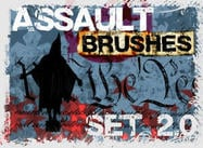 Assaut grunge brush set