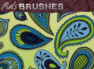 Cepillos libres del photoshop del doodle de Paisley