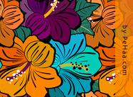 Motif floral très fleuri