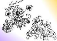Sketchy Decorative Floral Ornament Brushes