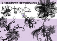 Handdrawn Flowerbrush