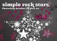 Estrellas de rock simples