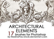 Architectual ornaments brushes