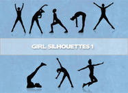 Girls Silhouetten Brushes