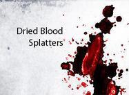 Getrocknete Blutspritzer