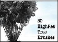 30 HighRes Tree Brushes