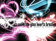 Valentin glöd hjärtan