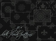 10 Free Dark Floral PS Patterns