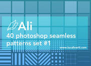 Ali 40 Photoshop seamless patterns set # 1