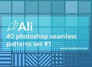 Ali 40 Photoshop sömlösa mönster set # 1