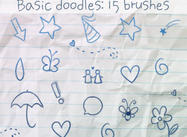 Brosses de Doodles de base