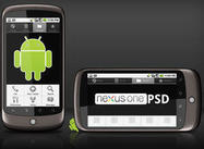 Google Nexus One sjabloon PSD