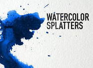 Aquarell Splatters
