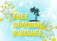 Free-summer-palm-tree-flower-brushes-psd