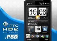 Téléphone intelligent htc hd2 .psd