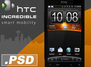 HTC Incredible Smartphone .PSD