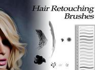 Hair Retouching Borstar för Photoshop
