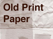 Old Print Heavy Paper