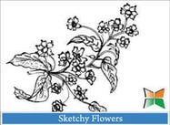 Skizzenhafte Blumen