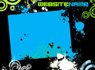 Green&Blue Grunge Web Template