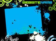Green&Blue Grunge Web Template