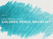 Ensemble de brosse à crayon à la couleur