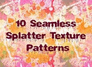 10 Nahtlose Splatter Patterns