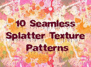 10 Nahtlose Splatter Patterns