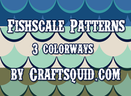 3 Modern Fish Scale Patterns