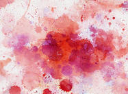 Splats d'aquarelle en rouge n rose